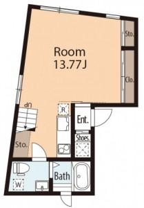 パセレーラ402下階間取図