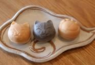 猫モチーフの「猫実もなか」 中身は猫実珈琲店 手作りの胡桃キャラメル