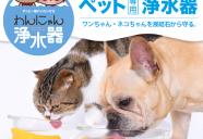 尿結石の一因を軽減!世界初、犬猫専用浄水器