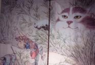 神楽坂の化け猫? いえいえ、ホン書き旅館の猫